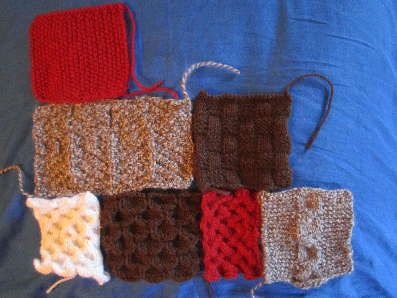 Esprit chalet - Differents points de tricot ...