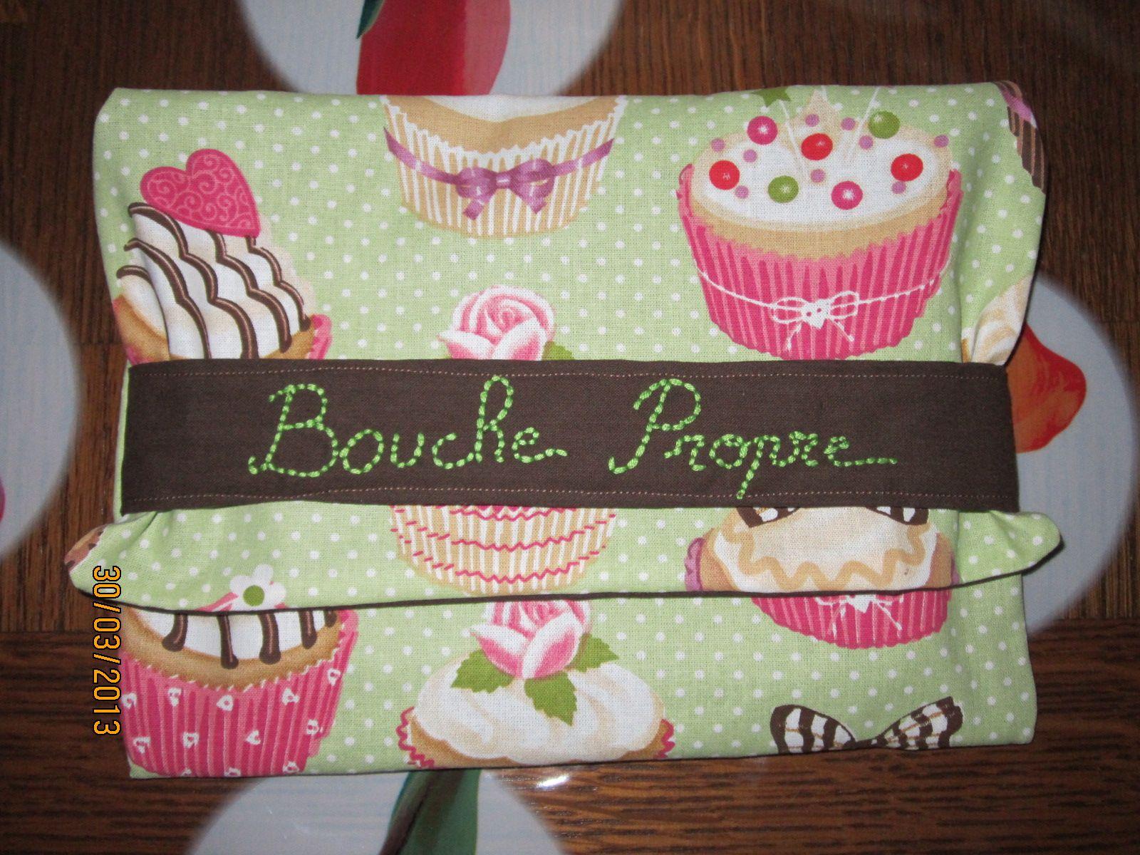 Pochette range serviettes de table ferm e - Pochette serviette de table ...