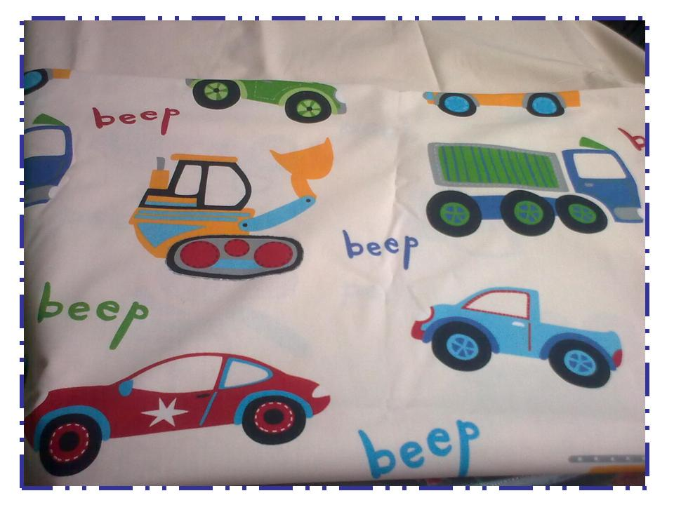 Tissu motif voitures camions - Housse de couette voiture de course ...